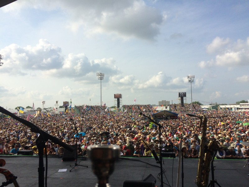 The crowd at Jazzfest